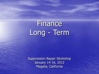 Finance  Long - Term
