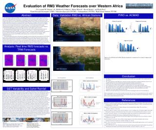 Evaluation of RM3 Weather Forecasts over Western Africa