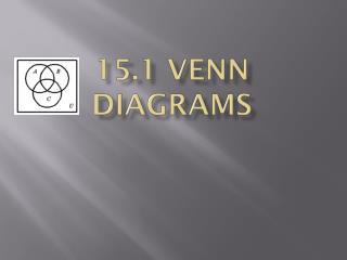 15.1 Venn Diagrams