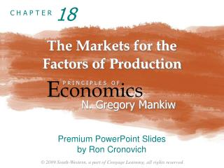 The Markets for the  Factors of Production