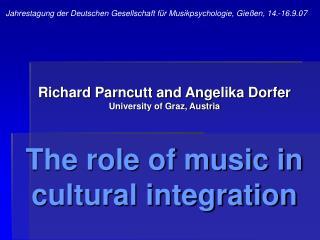 Jahrestagung der Deutschen Gesellschaft f�r Musikpsychologie, Gie�en, 14.-16.9.07