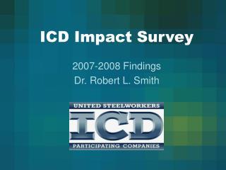 ICD Impact Survey