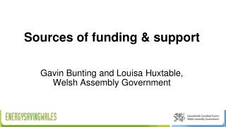 Sources of funding & support
