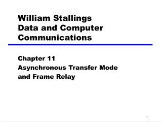 William Stallings Data and Computer Communications