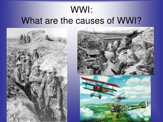 WWI:  What are the causes of WWI?
