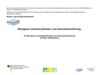 Ökologisch orientierte Betriebs- und Unternehmensführung