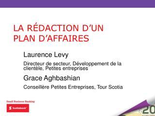 Laurence Levy Directeur de secteur, Développement de la clientèle, Petites entreprises