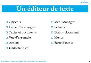 Un éditeur de texte