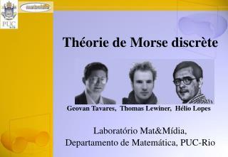 Théorie de Morse discrète