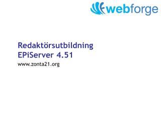 Redaktörsutbildning EPiServer 4.51
