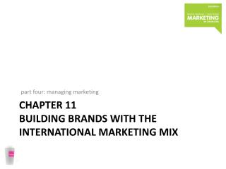 chapter  11 building brands with the International marketing mix