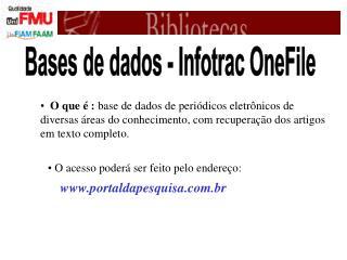 Bases de dados - Infotrac OneFile