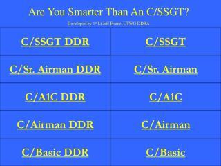 C/Sr. Airman DDR