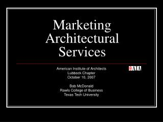 Marketing Architectural Services
