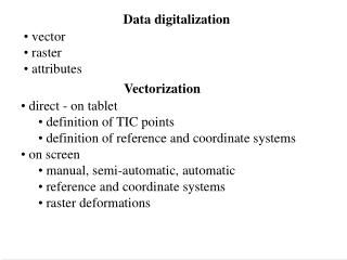 Data digitalization