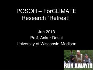 "POSOH – ForCLIMATE Research  "" Retreat! """