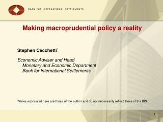 Making macroprudential policy a reality