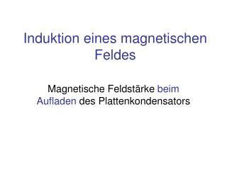 Induktion eines magnetischen Feldes