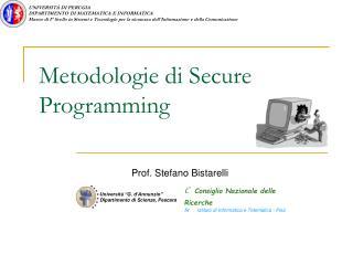 Metodologie di Secure Programming