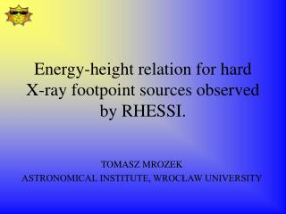 Energy-height relation for hard X-ray footpoint sources observed by RHESSI.