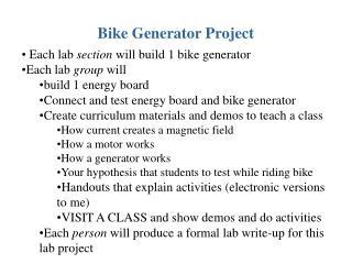 Bike Generator Project