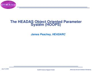 The HEADAS Object Oriented Parameter System (HOOPS)