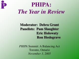 PHIPA:   The Year in Review