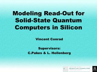 Modeling Read-Out for Solid-State Quantum Computers in Silicon
