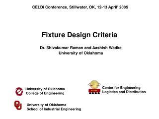 Fixture Design Criteria