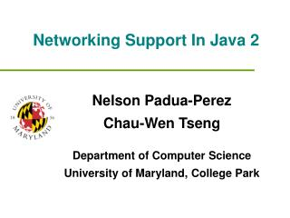 Networking Support In Java 2