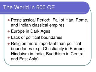 The World in 600 CE