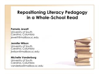 Repositioning Literacy Pedagogy in a Whole-School Read