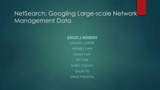 NetSearch : Googling Large-scale Network Management  Data