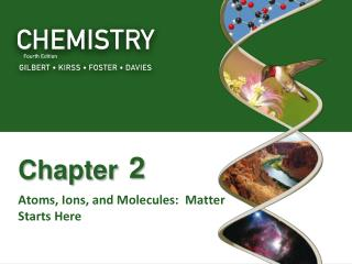 Atoms, Ions, and Molecules:  Matter Starts Here