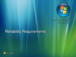 Reliability Requirements
