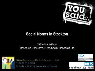Social Norms in Stockton