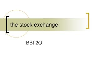 the stock exchange
