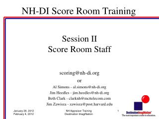 NH-DI Score Room Training