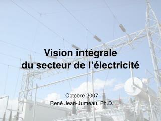 Vision intégrale du secteur de l'électricité