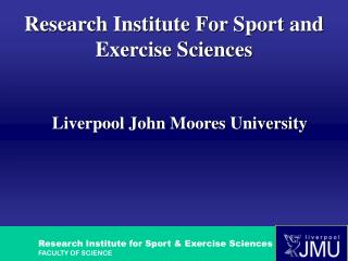 Research Institute For Sport and Exercise Sciences