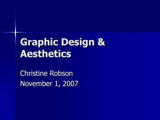 Graphic Design  Aesthetics