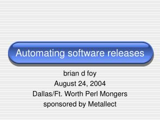 Automating software releases
