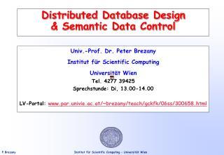 Distributed Database Design  Semantic Data Control