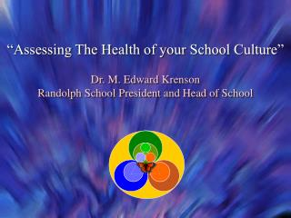 """""""Assessing The Health of your School Culture"""" Dr. M. Edward Krenson"""