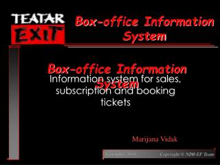 Box-office Information System
