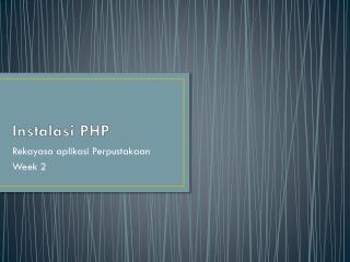 Instalasi  PHP