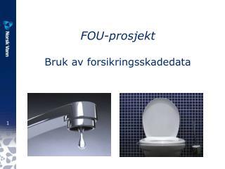 FOU-prosjekt Bruk av forsikringsskadedata