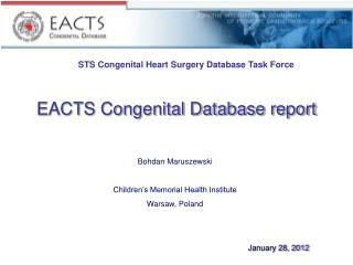 EACTS Congenital Database report