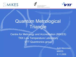 Quantum Metrological Triangle