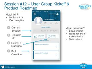 Session #12 – User Group Kickoff & Product Roadmap